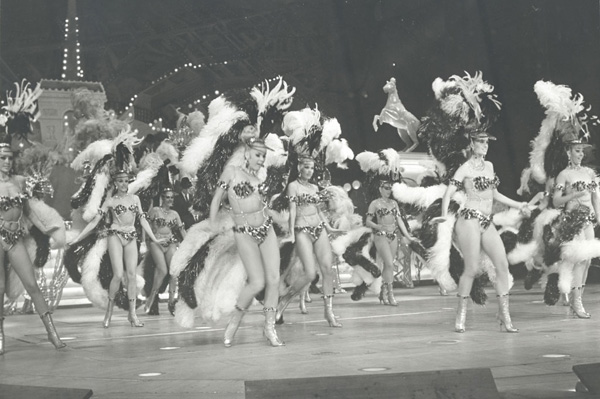 Vera dances among others at the Folies