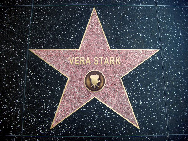 Vera's star on the Hollywood Walk of Fame.